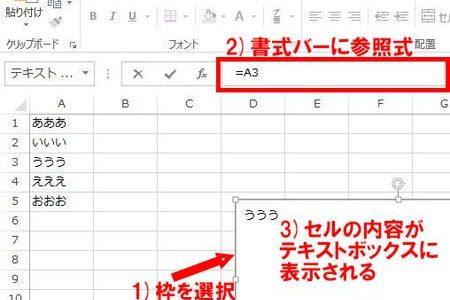 意外と知られていない、「テキストボックスにセル参照を書き込む」魔技