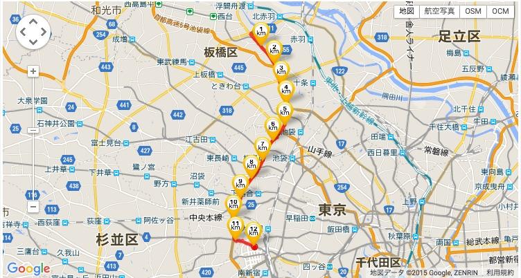 山手通り経由新宿へ